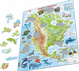 Map of North America with Animals - Frame/Board Jigsaw Puzzle 29cm x 37cm (LRS  A32-GB)